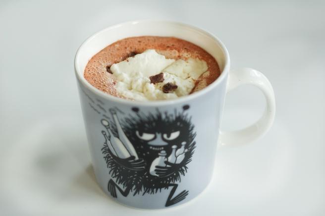 Heitur Nutella-súkkulaðidrykkur
