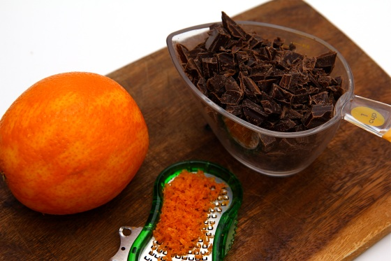 Appelsínuformkaka með súkkulaðibitum