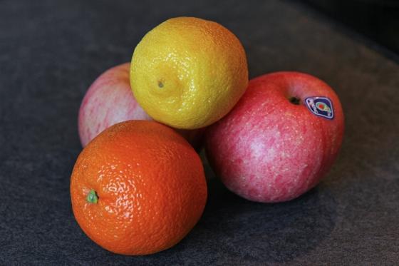 Marineraðar eplasneiðar