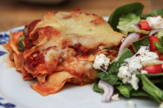 Kjúklinga, sveppa og parmesan lasagna