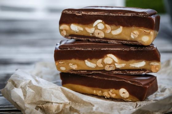 Heimagert snickers