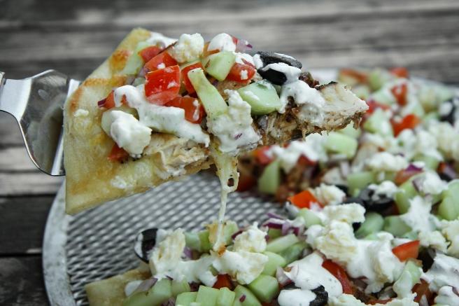 Grísk pizza
