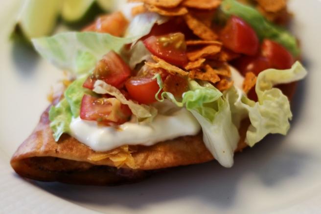 Steiktar quesadillas með kjúklingi