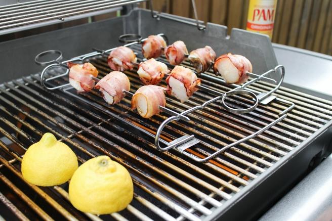 Beikonvafin grilluð hörpuskel