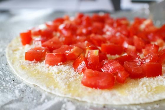 Grilluð humarpizza