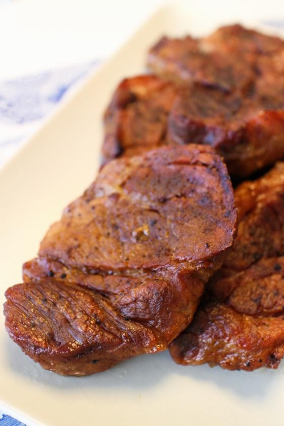 pulled pork í rjómasósu