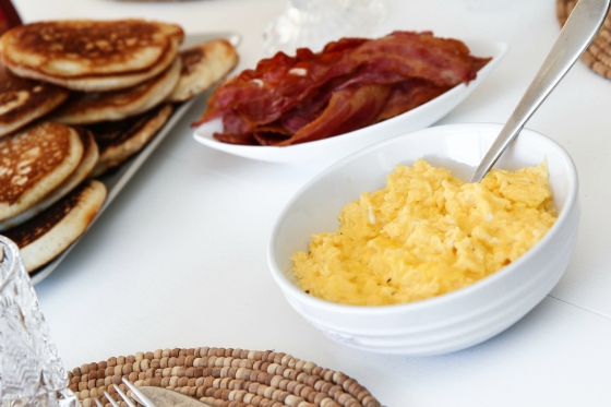 Amerískar pönnukökur og besta eggjahræran