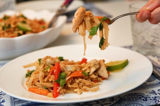 Kjúklinga Pad Thai