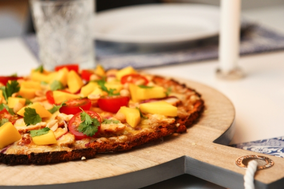 Sætkartöflu pizzabotn